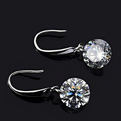 Pixnor® Fashion Women 8mm Diamond Crystal Earrings Ear Pendants - One Pair