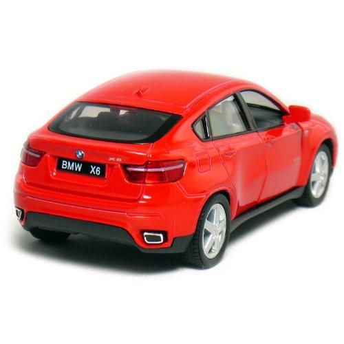 "Bmw X6 Usa: Set Of 4: 5"" BMW X6 SUV 1:38 Scale (Black/Red/Silver/White"