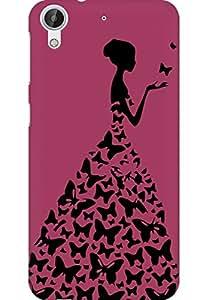 AMEZ designer printed 3d premium high quality back case cover for HTC Desire 626 (darkest pink princess)