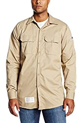 Bulwark Flame Resistant 7 oz Cotton Excel FR Work Shirt with Sleeve Vent, One-Piece Lined Cuff