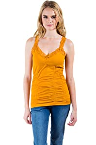 Seamless Laced Camisole in Honey Mustard