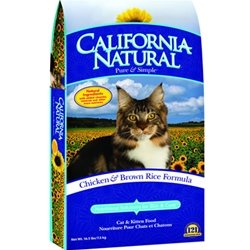 Image of California Natural Chicken/Rice Dry Cat Food 15lb