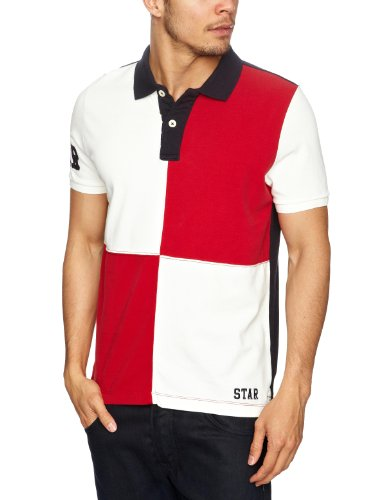 Cottonfield Ocean 7 Men's T-Shirt Red/White Medium
