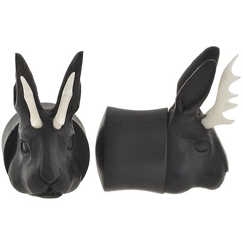 Pair of Arang Wood Jackalope Plugs: 5/8