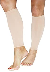 Beauty America Nude Compression Calf & Shin Support Sleeves ( Set of 5 ) by Beauty America USA