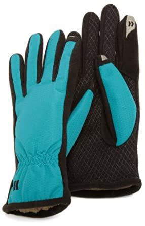Isotoner Women's SmarTouch Nylon Glove with Gathered Wrist, Baltic, X-Small/Small