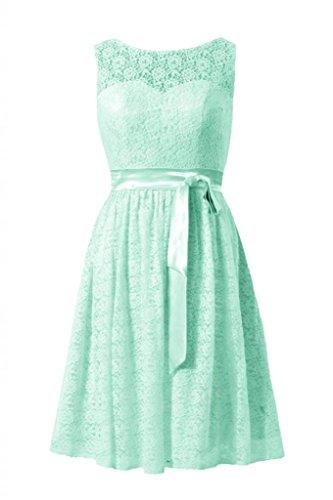 Daisyformals Short Lace Bridesmaid Formal Dress(Bm43225)- Mint