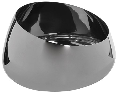 Small Stainless Steel Slant Bowl, Plain Finish
