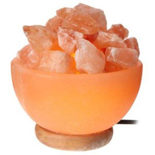 Indus Classic Large Himalayan Salt Crystal Prosperity Bowl Lamp