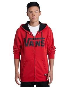 Vans Herren Fleece Classic Zip Hoodie, reinvent red/deep navy, S, VJ6K6OT
