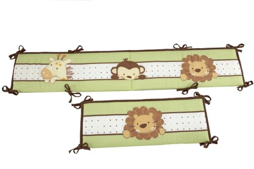 Little Bedding Traditional Padded Bumper, Jungle Pals - 1