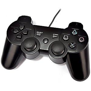 Cable N Wireless Dual Shock USB Joypad Joystick Game Pad Controller (10 Key)