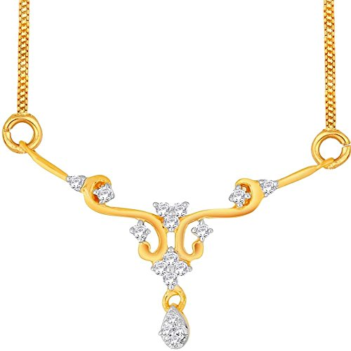 Asmi Asmi 18K Yellow Gold Diamond Mangalsutra Pendant (Multicolor)