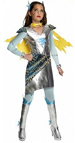 Monster High Power Ghouls Frankie Stein Costume (Medium Age 8-10)