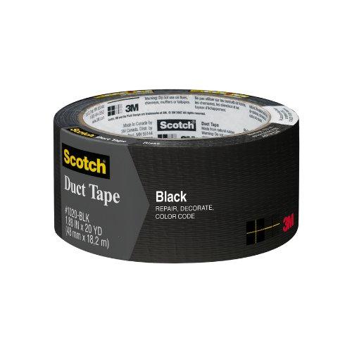 """3M L255-Blk Duct Tape, 55 Yds Length X 1.88"""" Width, Black"""