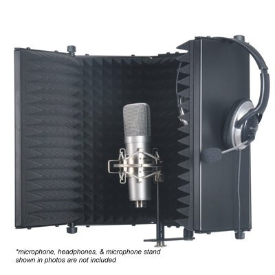 Studio Microphone Diffuser Isolation Sound Absorber Foam Panel Shield Stand Mic Griffin