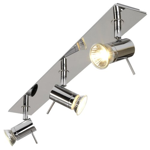 Astro 6085 GU10 Mercury Three Bar Spotlight including 3 x 50 Watt 230 V Bulbs, Chrome