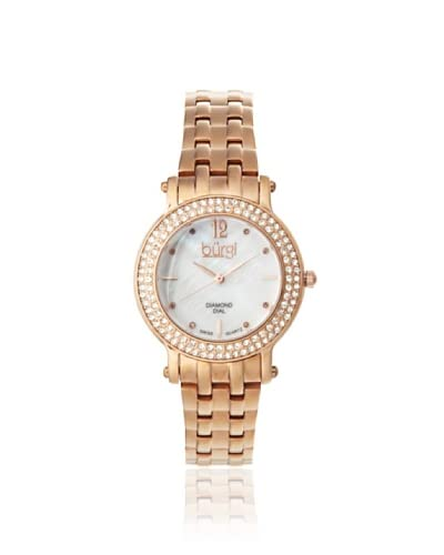 Burgi Women's BUR079RG Diamond Dial Rose-Tone Watch