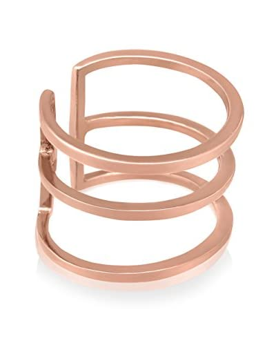 Adoriana Rose Gold-Plated Tri-Band Spacer Ring