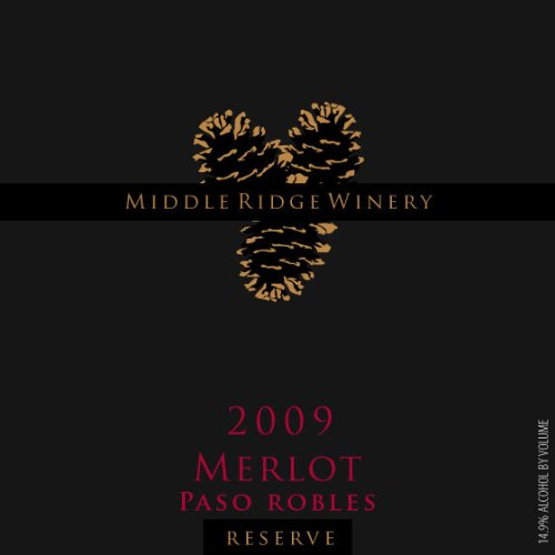 2009 Middle Ridge Winery Reserve Merlot Paso Robles 750 Ml