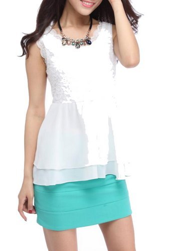 Supplement Lace Chiffon Skirt Vest Body Female Back