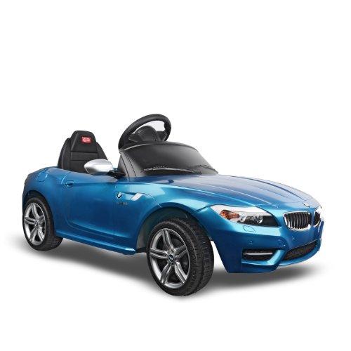BMW Z4 Kids 6v Electric Ride On Toy Car w/ Parent Remote Control - Blue