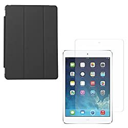 DMG Ultra Slim Magnetic Smart Shell Stand Cover Case for Apple iPad Air (Black) + Matte Anti-Glare Screen Protector