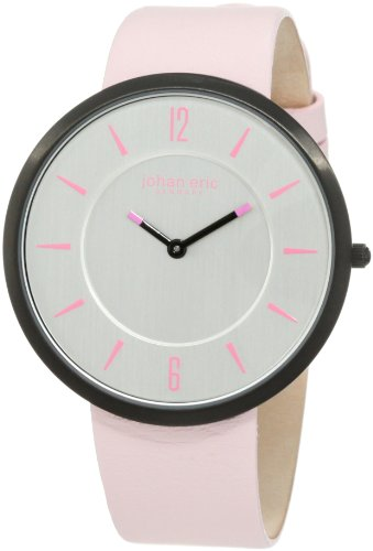 Johan Eric Women's JE5001-13-001.8 Vejle Slim Black IP Pink Leather Watch