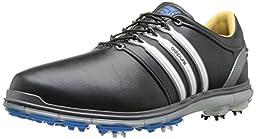 Adidas 2014 Men\'s Pure 360 WIDE Golf Shoe (Black/Running White/Samba Blue - 11)