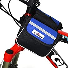MOVEIRON 600D Polyester Mesh and Nylon Blue Cycling Frame Bag