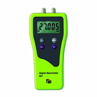 "TPI 621 Dual Differential Input Manometer, 5 Digit LCD, +/-0.5 percent Accuracy, 0.01"" H2O Resolution, +/-120"" H2O Range"