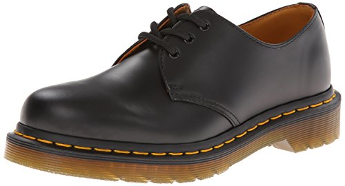 Dr. Martens 1461Z Smooth Cherry Scarpe Basse Stringate, Unisex Adulto, Nero (Black Smooth Z Welt), 42