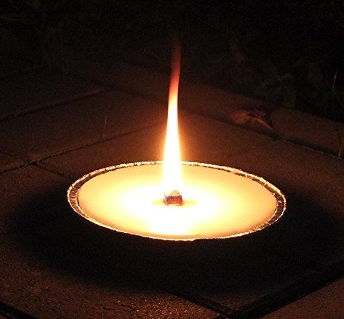 Grave - flame shells Alu, Ø 165 mm, white, grave candles, grave candles, outdoor candles, garden candles, party candles, garden, terrace, Decoration