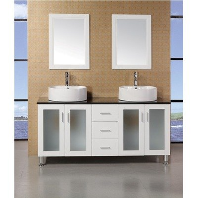 Design Element Dec066D-W Malibu 60-Inch Double Sink Vanity Set In White Finish front-662552