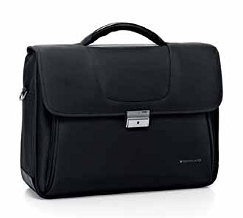 Roncato Cartella Clio Nero,art 412251, 3 ccmp., Porta Pc / Tablet, 43x31x18 cm