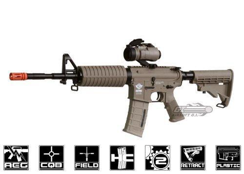 combat machine m16 carbine aeg airsoft gun ( m4-a1 / tan )(Airsoft Gun) (Combat Machine M4 compare prices)