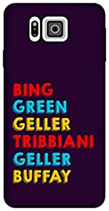 The Racoon Lean Surnames hard plastic printed back case for Samsung Galaxy Alpha