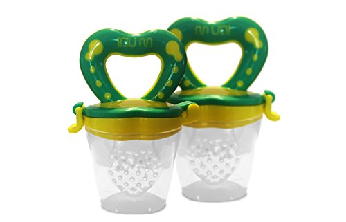 Best 2 Pack Baby Teether Soother Unique Baby & Toddler Food Pacifier Feeder For Eating Fresh Fruit -n- Veggies and Meat Safe & Choke Free. Storage Container & Silicone Nipple. (Mesh Fruit Baby compare prices)