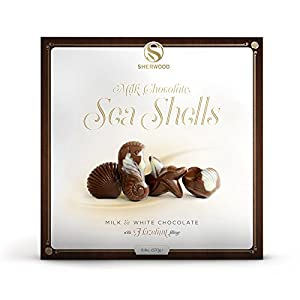 Pack Of 2 European Milk & White Choclate Sea Shells With A Luxerous Hazelnut Filling, In A Beautiful Gift Box