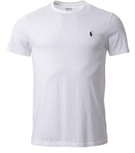 Ralph Lauren -  T-shirt - Crew Neck - Basic - Collo a U  - Uomo Bianco bianco