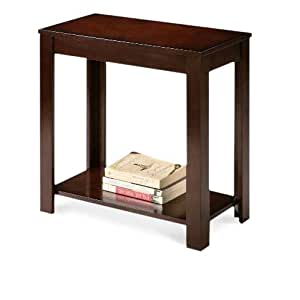 Wood Cappuccino Brown End Side Accent Table Kitchen Dining