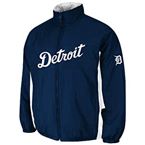Detroit Tigers Authentic Double Climate On-Field Jacket by Majestic Athletic by Majestic