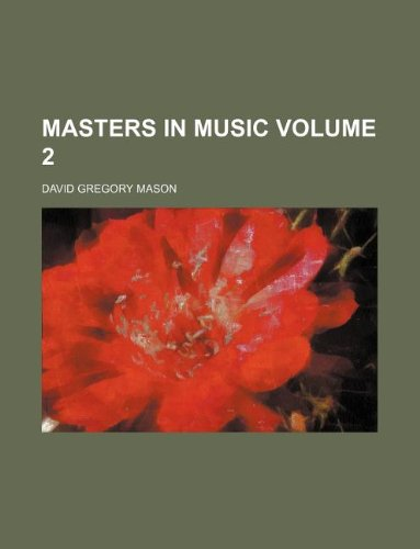 Masters in music Volume 2