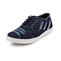 PAN Mens G05 Blue Fabric Casual Shoe-6 UK