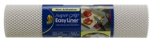 Duck 736360 Non-Adhesive Super Grip Easy Shelf Liner, White, 12-Inch Wide 8-Feet Long