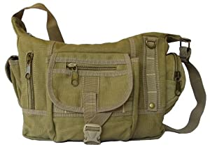 Cross Body Shoulder Multi-Pocket Canvas Messenger Diaper Bag