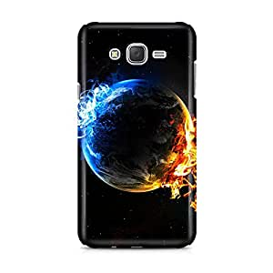 Motivatebox - Samsung Galaxy J1 2016 edition Back Cover - Fire Ice and Earth Polycarbonate 3D Hard case protective back cover. Premium Quality designer Printed 3D Matte finish hard case back cover.