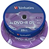 Verbatim 43757 - DVD+R vírgenes (Doble Capa, 8.5Gb, 8X) - pack 25