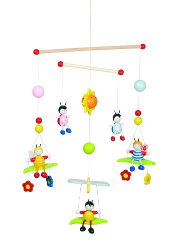 Goki 52954 Wooden Mobile Beetles and Bees