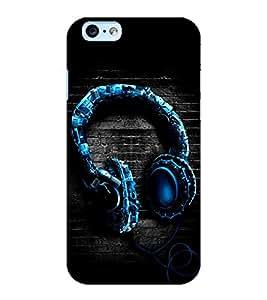 ColourCraft Unique Headphone Design Back Case Cover for APPLE IPHONE 6